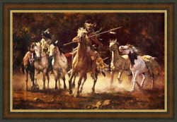 Howard Terpning The Captured Ponies Giclee Canvas Artist Proof A/p19/20