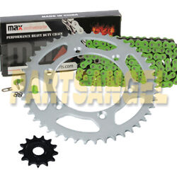 Green O Ring Chain And Sprockets Kit For 2001-2004 Yamaha Yz250f / 2005-2018 Yz125