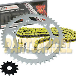 Yellow O Ring Chain And Sprockets For 2001-2004 Yamaha Yz250f / 2005-2018 Yz125