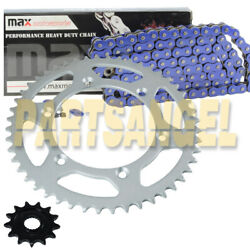 Blue O Ring Chain And Sprockets Kit For 2001-2004 Yamaha Yz250f / 2005-2018 Yz125