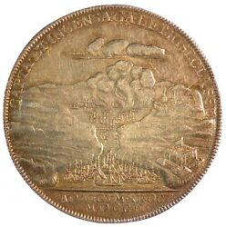 1702 Great Britain Queen Anne - Expedition To Vigo Bay Silver 37mm Betts 97