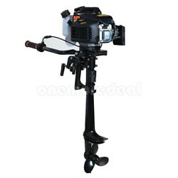 4 Stroke 4hp Outboard Motor Fishing Boat Engine Air Cooling System 55cc Dl45