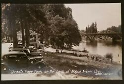 Mint Oregon Grants Pass Park On The Bank Of Rogue River Real Picture Postcard