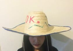 Classic Asian Straw Hat Handcrafted Woven, 4289