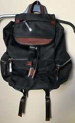 """Dept. 8 13"""" Laptop Women's Classic Black Backpack W Rosy Leather Accents New $34.99"""