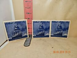 Holland America Line Tiles , All Show Steamship With Sails - Cork Backed
