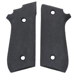 Fits Taurus 92 99 Early No Decocker Black Rubber Checkered New Uncle Mikes Grips