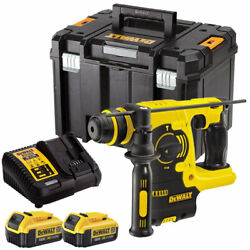 Dewalt Dch253n 18v Sds+ Rotary Hammer Drill + 2 X 4ah Batteries Charger And Tstak