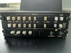 King Ka-119 Audio Panel Sold As Is As Removed. Parts Only