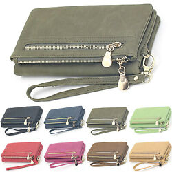 Womens Wallet Long Double Zip Purse Card Holder Cash Phone Clutch Casual Handbag $14.29