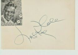 Nat King Cole Signed 4 By 6 Card Jsa Coa Authentic With Kathleen Harrison
