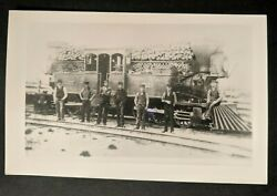 Mint Vintage Toronto And Nipissing Railway Canada Train Real Picture Postcard