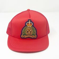 Royal Canadian Mounted Police Mounties Vintage Trucker Mesh Snap Back Hat 80's $21.21