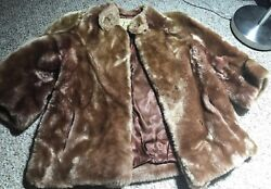Jordan Marsh Boston Vintage DYED LAMB STOLE JACKET 60s SHERPA