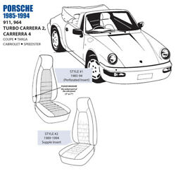 For Porsche 911 964 Turbo Carrera Front Leather Seat Cover Set 85-94 Oem New