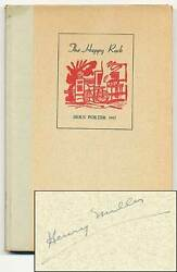 The Happy Rock A Book About Henry Miller / Signed 1st Edition 1945