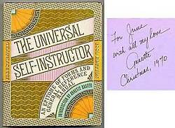 Annette Baxter / Universal Self-instructor And Manual Of General Signed 1970
