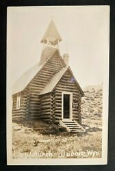 1929 Dubois Wyoming To Rushville Indiana Church Real Picture Postcard Cover