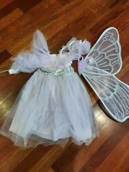 Pottery Barn Kids Light Up Fairy Costume Lavender 7-8 NEW 4 Pieces Halloween