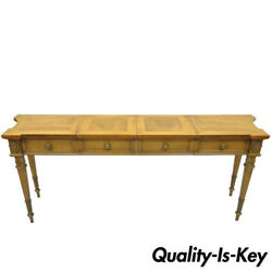 Vintage Karges Walnut French Regency Style Extension Server Console Sofa Table