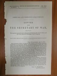 Government Report 4/5/1872 Us Green Bay Mississippi Canal Company Wi Fox River