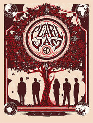 2013 Pearl Jam Band Munk One Ten Club Companion Concert Poster Ap100 Signed Ap
