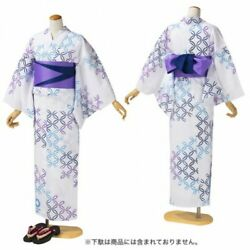 Tokyo 2020 Olympic Emblem Handmade Dyed Kimono White Woman Official Goods Small