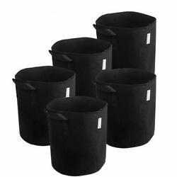 Melonfarm Plant Grow Bags - Smart Thickened Non-Woven Aeration Fabric Pots Conta