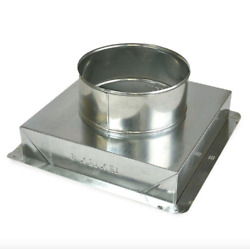 Six6 Master Flow 14 To 12 Inch Ceiling Pipe Duct Register Grille Box Hvac Galv