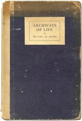 Mercedes De Acosta Mabel Normand / Archways Of Life First Edition 1921