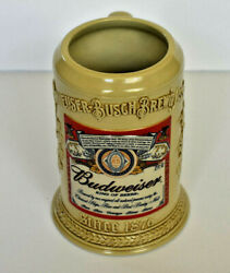 Budweiser Label Stein 2002 Vintage Cs515 With Coa Hand Numbered