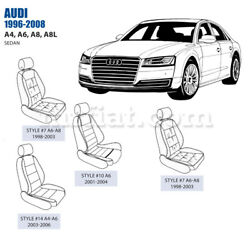 Audi A6 Front Leather Seat Cover Set 1998-08 Oem New