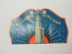 Vintage Advertising Woolworth Needle Book  Collectible  S-1164