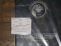 2010 Breeders' Cup Program And 2 Win And Results Souvenir Ticket Uncle Mo