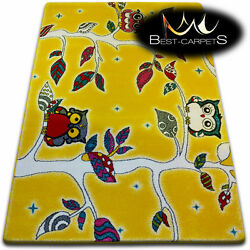 Soft Carpets Bedroom Boys Girls Thick Children Rug 'KIDS' FOREST FUN Rugs LARGE