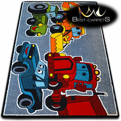 Soft Carpets Bedroom Boys Girls Thick Children Rug 'KIDS' CARS FUN Rugs LARGE