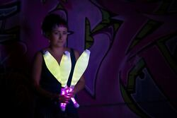 Rainbow Clubs - Ignis - Led Lighting Juggling Clubs Rechaerchable Remote
