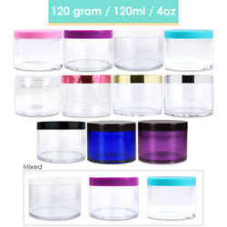 4oz/120g High Quality Thick Acrylic Plastic Jar Sample Containers Bpa Free