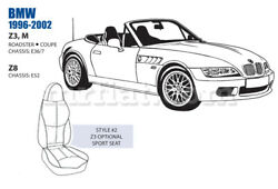 Bmw Z3 Z8 M Roadster Front Sport Leather Seat Cover Set 1996-02 Oem New