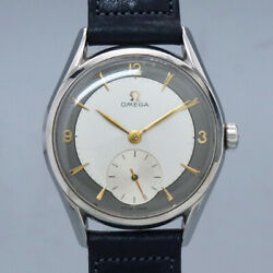 Free Shipping Pre-owned Omega 2791-1 Two-tone Dial Antique Watch Made 1955
