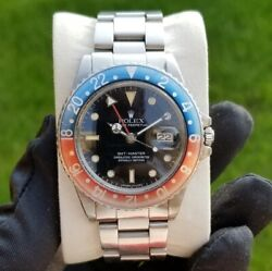 1985 Vintage Rolex GMT Master Pepsi 16750 Stainless Spider Dial 40mm Automatic