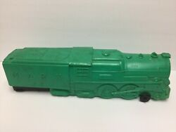 Marx Green Plastic Train Whistling Clanging RR Locomotive 333 Rare Made In USA