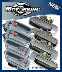 Door Handle Set 8 For 97-01 Toyota Camry 4 Inner Gray + 4 Outside Gray 1B2 DH88