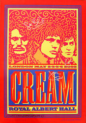 The Cream SIGNED Royal Albert Hall concert poster by Eric Clapton Ginger