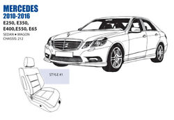 Mercedes E Class Front Seat Cover Set 2010-16 Oem New