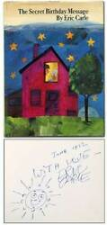 Eric Carle / The Secret Birthday Message Signed 1st Edition 1971