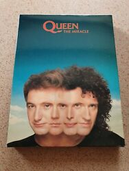 Queenthe Miracleuber Rare Uk Promo Box Set With Sampler Tape,cd And Bookmint