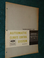 1968 FORD CAR CLIMATE CONTROL SHOP MANUAL / BOOK / ORIG