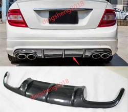 Outer Bumper Trim Rear Panel Decoration For Mercedes Benz W204 C63 AMG 2007-2011