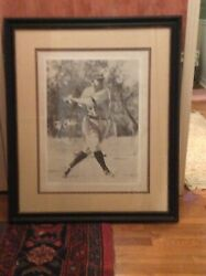 Ty Cobb Painting 3 Ft X 4 Ft